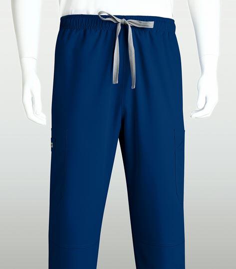 Grey's Anatomy Men's Derek Elastic Drawstring Cargo Scrub Pants-0212