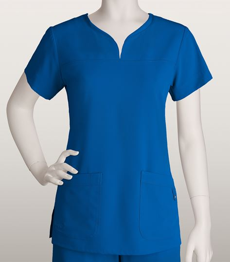 ba3174d2f2d Grey's Anatomy Signature Women's Notched Neck Solid ScrubTop-2121 | Medical  Scrubs Collection