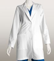 "Grey's Anatomy Signature Women's 35"" White Stretch Lab Coat-2402"