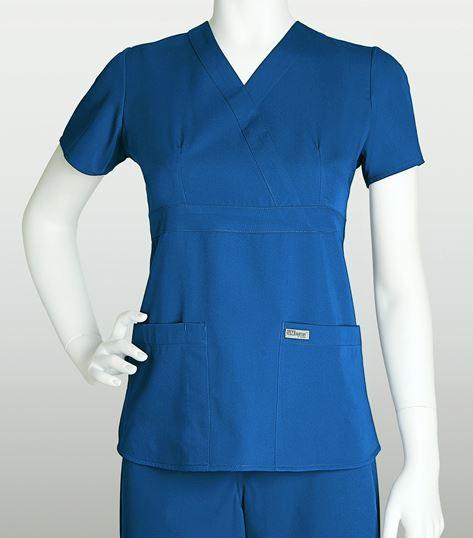 Grey's Anatomy Women's Mock Wrap Empire Waist Scrub Top-4153