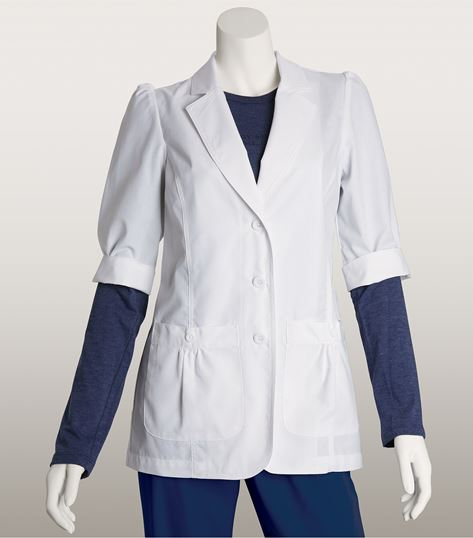 "Lab Coats by Barco Women's 28"" Short Sleeve White Lab Coat-4414"
