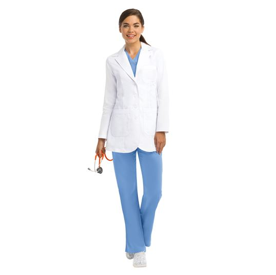 "Barco Grey's Anatomy Women's 32"" Princess Seam White Lab Coat-4425"
