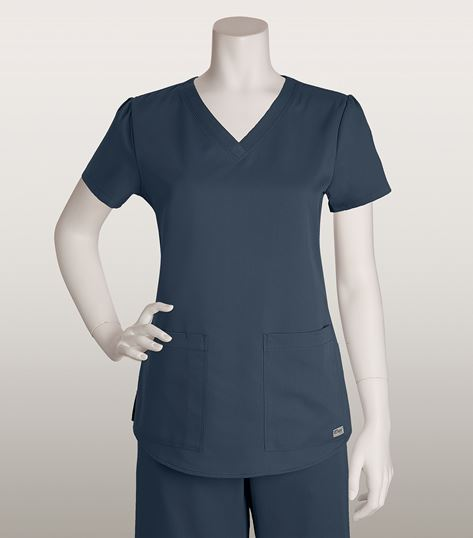 Grey's Anatomy Women's V-Neck Scrub Top With Shirred Back-71166