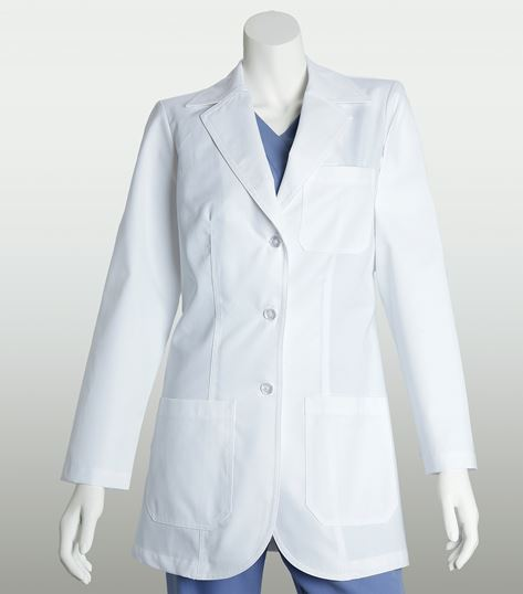 "Lab Coats by Barco Women's 32"" 3 Pocket White Lab Coat-7403"