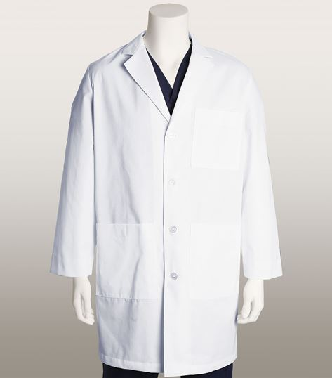 "Mr. Barco Men's 38"" 4 Pocket White Lab Coat-9103"
