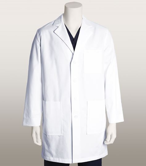 "Mr. Barco Men's 37"" 6 Pocket White Lab Coat-9599"
