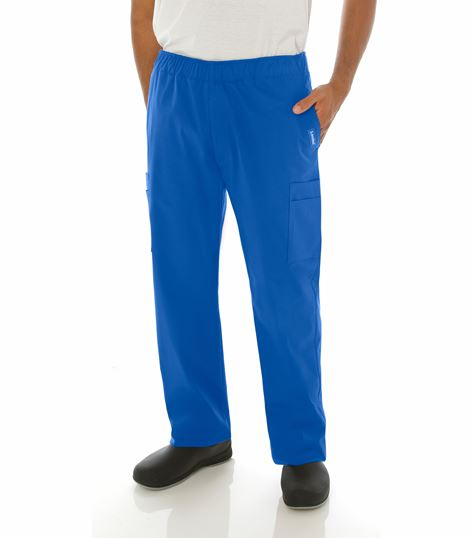 Landau Men's Stretch Elastic Waist Cargo Scrub Pants-2012