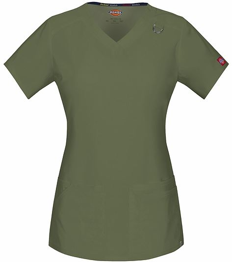 Dickies EDS Signature Women's V-Neck Solid Scrub Top-85948A