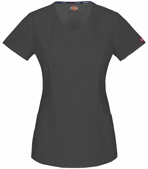 Dickies EDS Women's Mock Wrap Solid ScrubTop-85954A