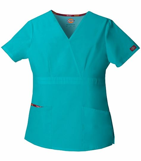 Dickies EDS Signature Women's Mock Wrap Solid Scrub Top-86806
