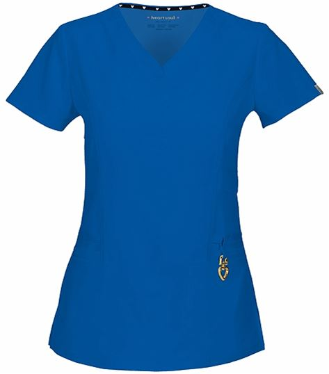 HeartSoul Women's V-Neck Solid Scrub Top-20972A