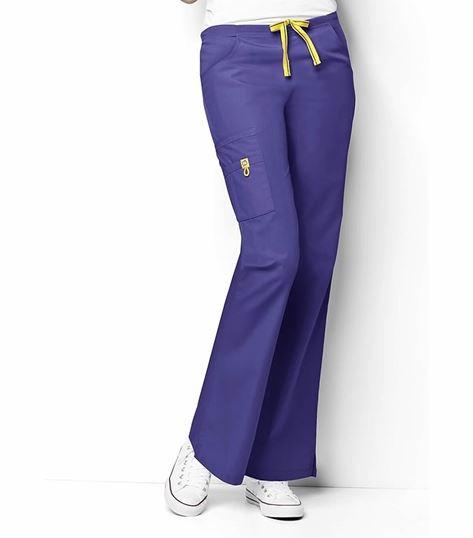 WonderWink Origins Women's Drawstring Flare Leg Scrub Pants-5026
