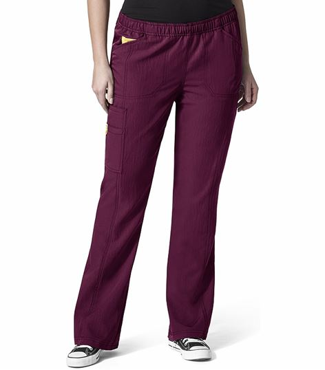 WonderWink PLUS Women's Boot Cut Cargo Scrub Pants-5105