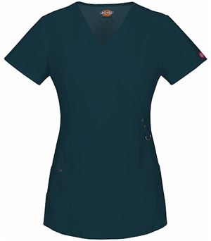 Dickies Xtreme Stretch Women's Mock Wrap Scrub Top-85956