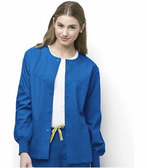 WonderWink Origins Unisex Snap Front Warm-Up Scrub Jacket-8006 (Royal - X-Large)