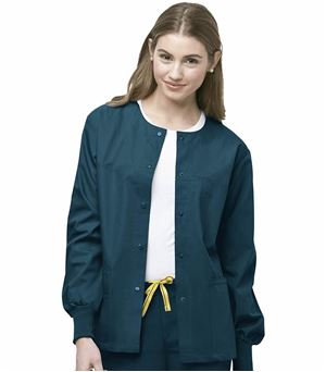 WonderWink Origins Unisex Snap Front Warm-Up Scrub Jacket-8006