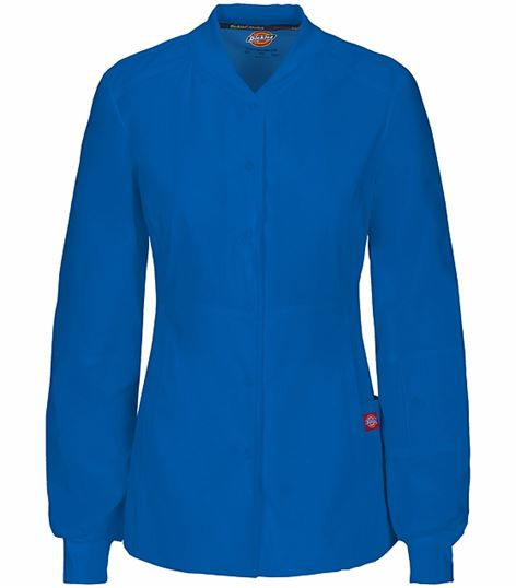 Dickies EDS Women's Snap Front Warm-Up Scrub Jacket-85304A