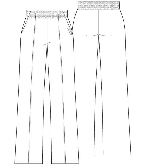 Cherokee Women's Elastic Waist Scrub Pants-CK001