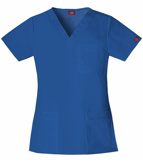 Dickies GenFlex Women's V-Neck Solid Scrub Top-82855