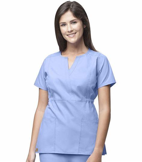 Carhartt Premium Women's Fashion Waist Mock Wrap Scrub Top-C10401