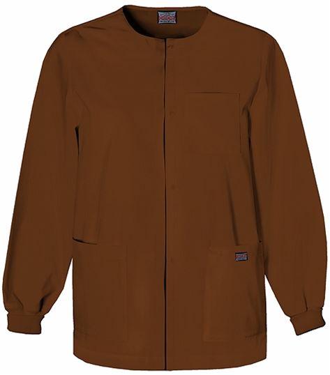Cherokee WorkWear Men's Snap Front Warm-Up Scrub Jacket-4450