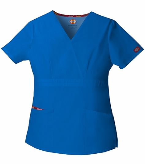 Dickies EDS Signature Women's Mock Wrap Solid Scrub Top-86806