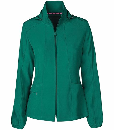 HeartSoul Zip Up Warm-Up Scrub Jacket With Detachable Hood-20310
