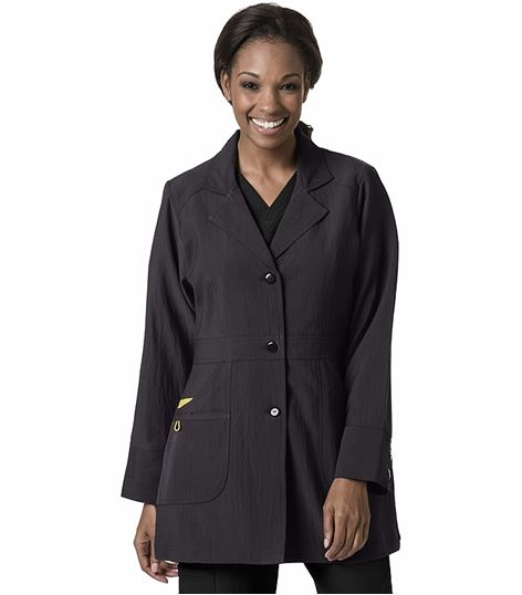 WonderWink Women's Button Front Stretch Lab Coat-7004