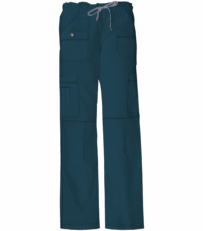 fbb75c893b7 Dickies GenFlex Women's Elastic Waist Cargo Scrub Pants-857455 | Medical  Scrubs Collection