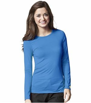 WonderWink Layers Women's Silky Long Sleeve Underscrub Knit Tee-2009