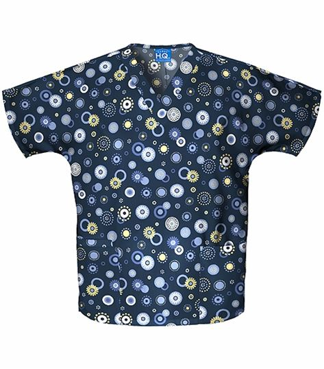 Scrub H.Q. Women's V-Neck Printed Scrub Top-4700C