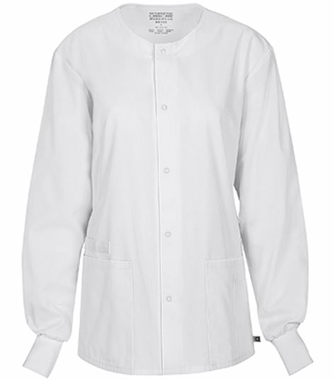 Cherokee Workwear Unisex Snap Front Warm-Up Scrub Jacket-34350A