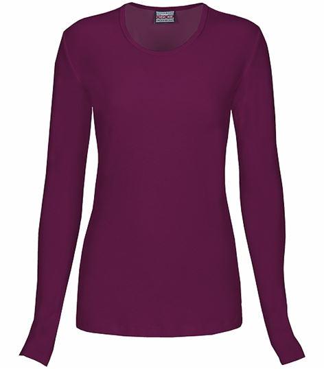 Cherokee Workwear Women's Long Sleeve Underscrub Knit Tee-4881