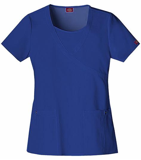 Dickies Xtreme Stretch Women's Mock Wrap Scrub Top-82814