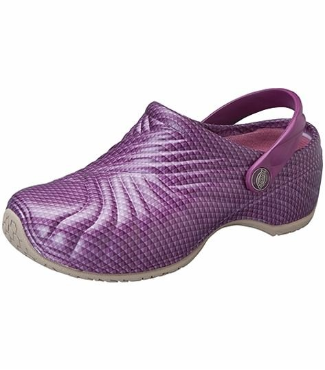 Dickies Unisex Slip Resistant Injected Nursing Clog With Backstrap-ZIGZAG