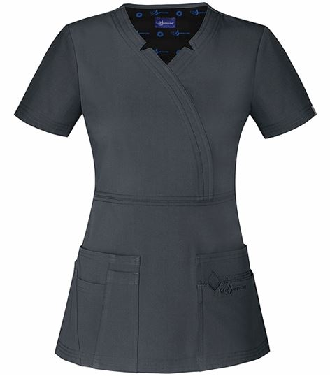 Sapphire Women's Solid Mock Wrap Scrub Top-SA600A