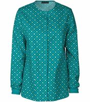 Cherokee Women's Snap Front Print Warm-Up Scrub Jacket-42350C