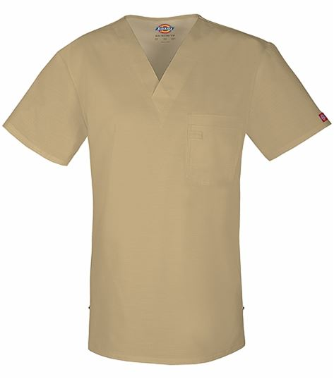 Dickies Men's V-Neck Scrub Top With Double Chest Pocket-81800