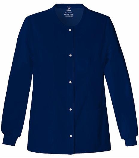 Cherokee Luxe Women's Snap Front Warm-Up Scrub Jacket-1330