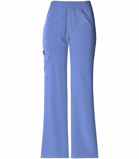 Dickies Xtreme Stretch Women's Elastic Waist Cargo Scrub Pants-82012