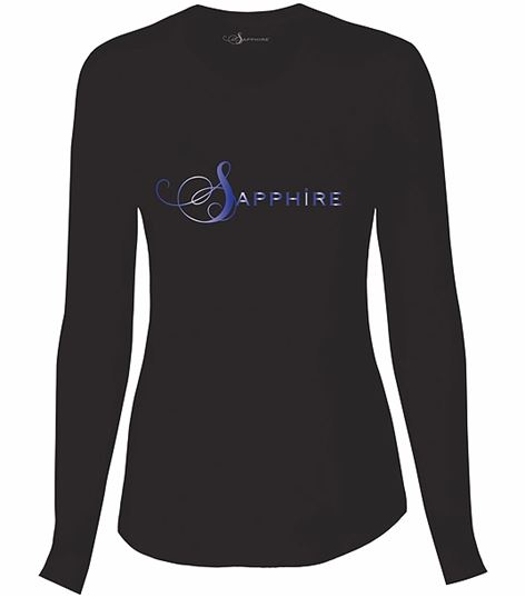 Sapphire Women's Long Sleeve Underscrub Knit Tee-SA603A