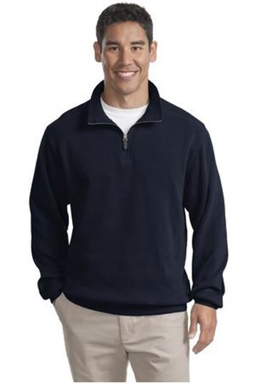 Port Authority® Flatback Rib 1/4-Zip Pullover F220