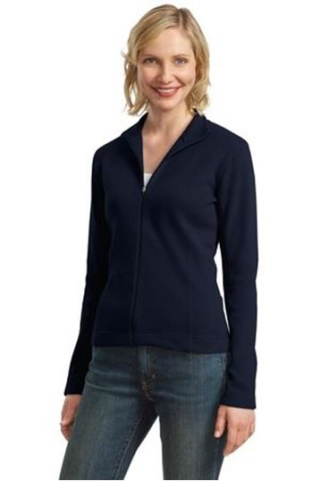 Port Authority® Ladies Flatback Rib Full-Zip Jacket L221