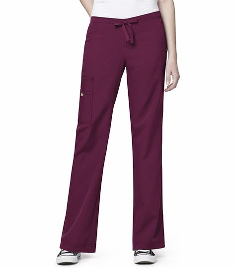 WonderWink Four-Stretch Women's Cargo Drawstring Scrub Pants-5414