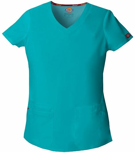 Dickies EDS Signature Women's V-Neck Solid Scrub Top-85906