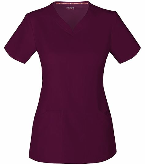 Code Happy Women's Solid V-Neck Scrub Top With Certainty-CH602A