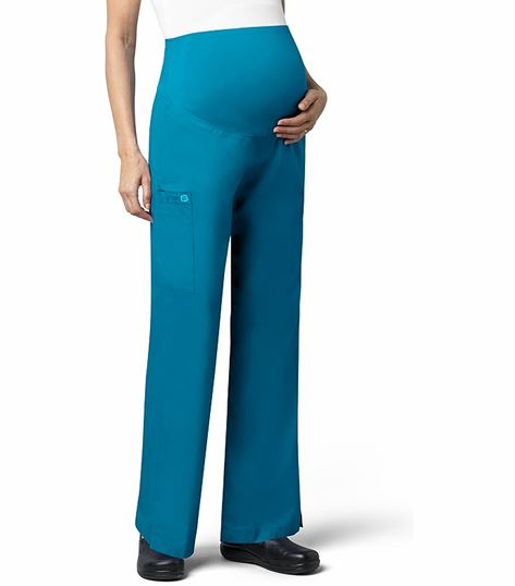 Wonderwink Wonderwork Flare Leg Maternity Scrub Pants With Cargo Pocket-545