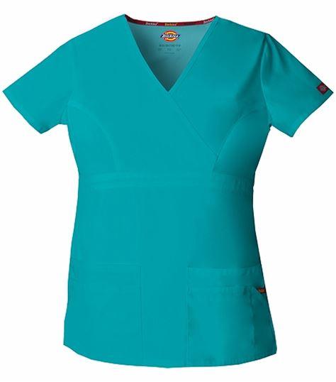 Dickies EDS Signature Women's Mock Wrap Solid Scrub Top-85820