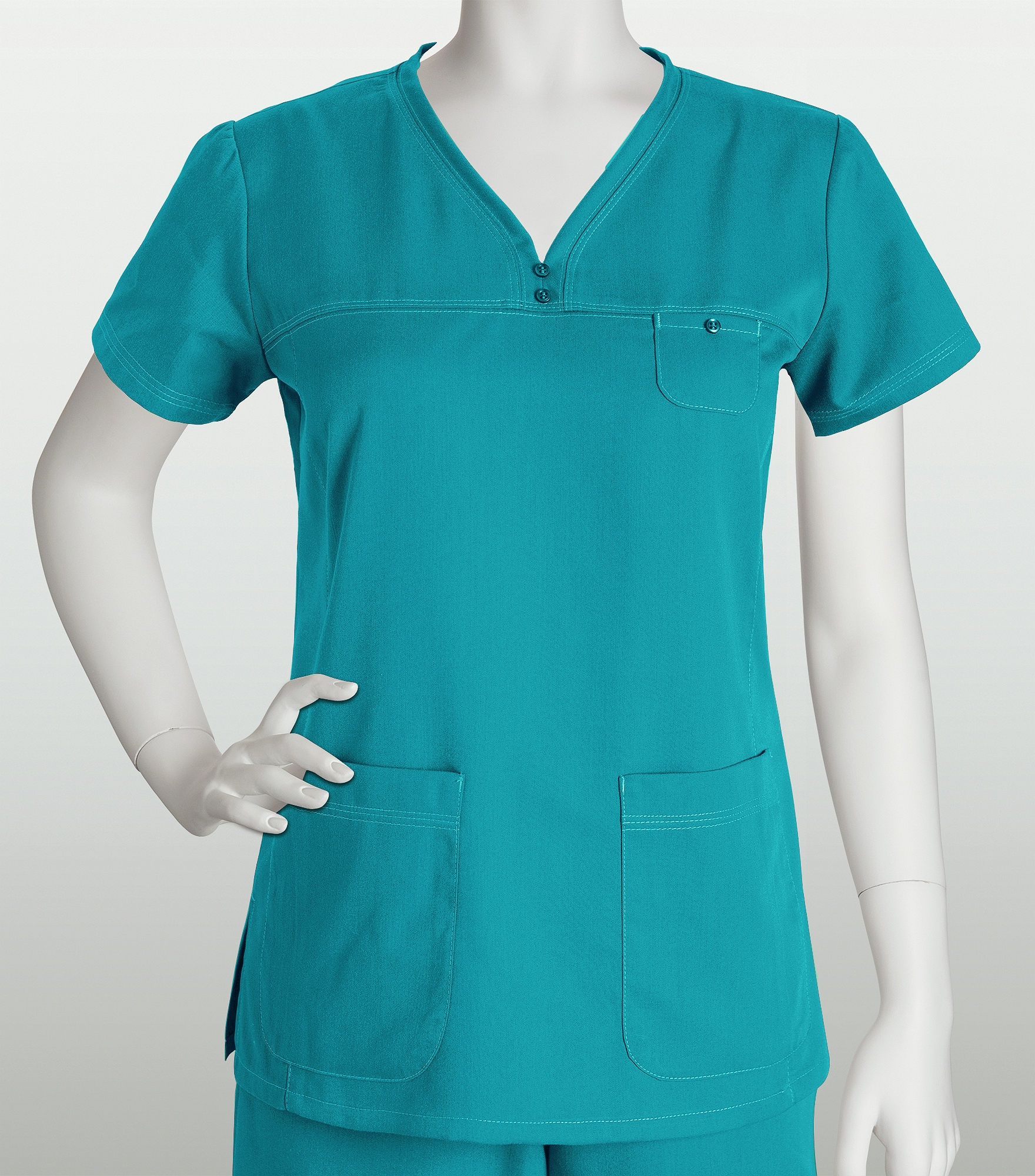 Grey\'s Anatomy Women\'s Solid V-Neck Scrub Top With Stitching-41340 ...
