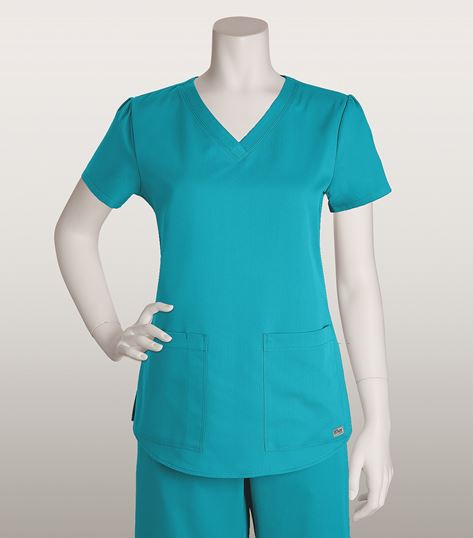 Grey's Anatomy Women's V-Neck Scrub Top With Shirred Back-71166